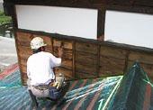 下地パテ処理と塗装1回目